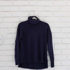 J. Crew wool soft navy blue turtleneck sweater XS
